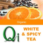 Qi White & Spicy Tea – Zero calories, better than chai. Reminiscent of chai with cinnamon, cloves, ginger and a hint of orange.